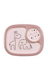 Done by deer Yummy mini compartiment plate dreamy dots powder