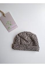 kiaora Beanie leopard zand