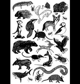 Petit Monkey tattoos set black animals