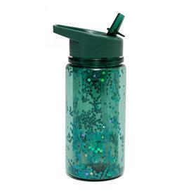 Petit Monkey Drinking bottle glitter salie green