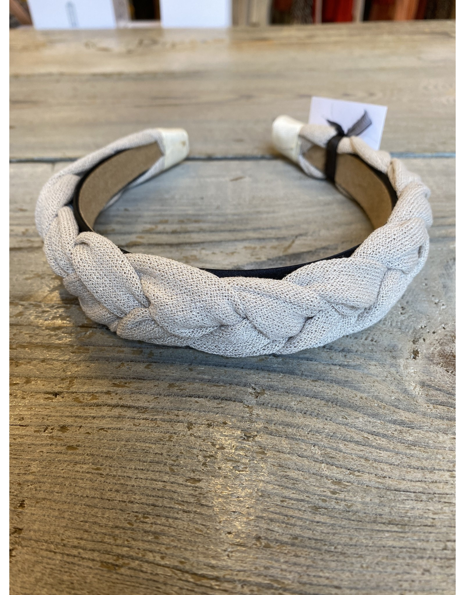 Bymev Hard headband braided taupe