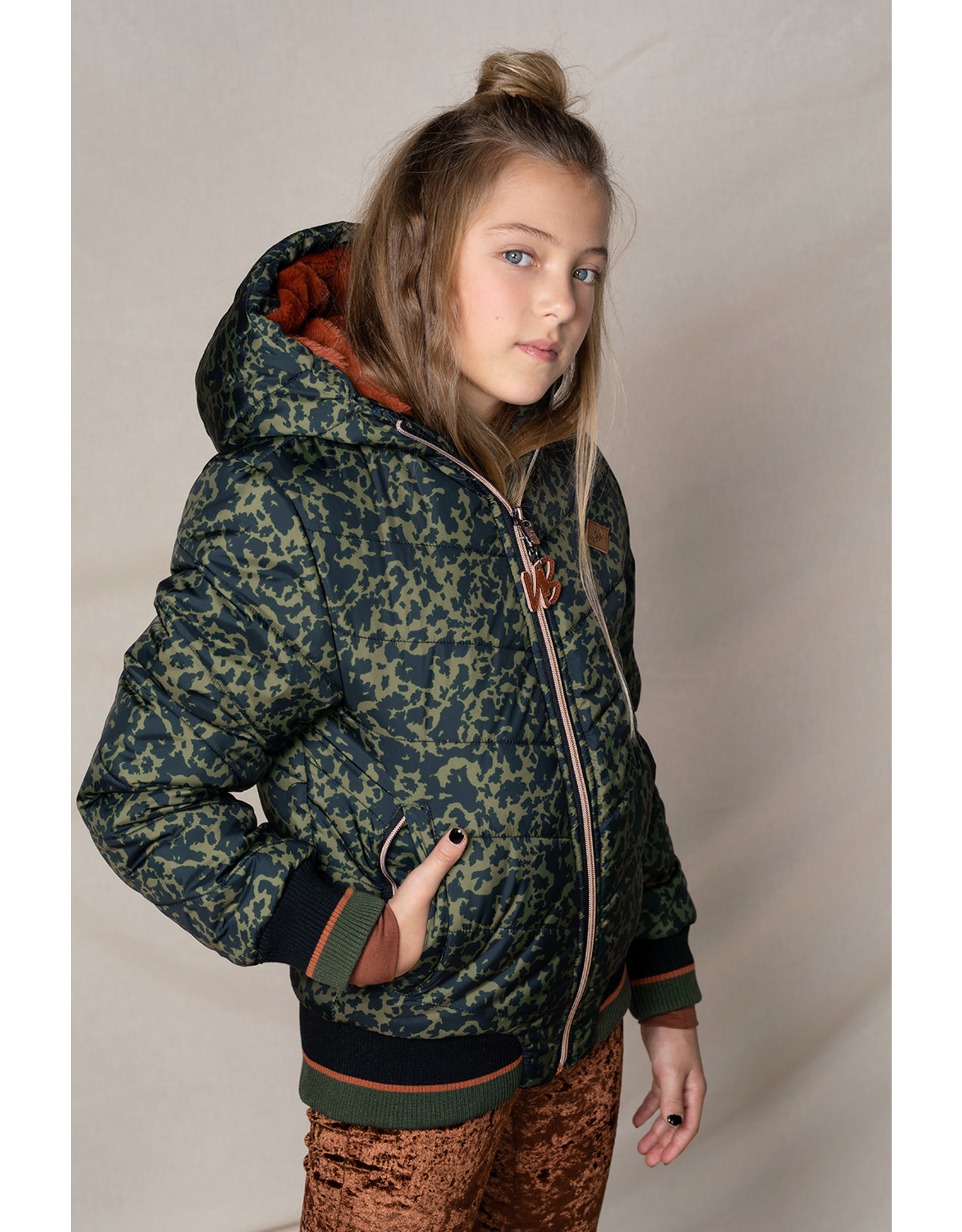 Nobell Recycled polyester Busy hooded bomber