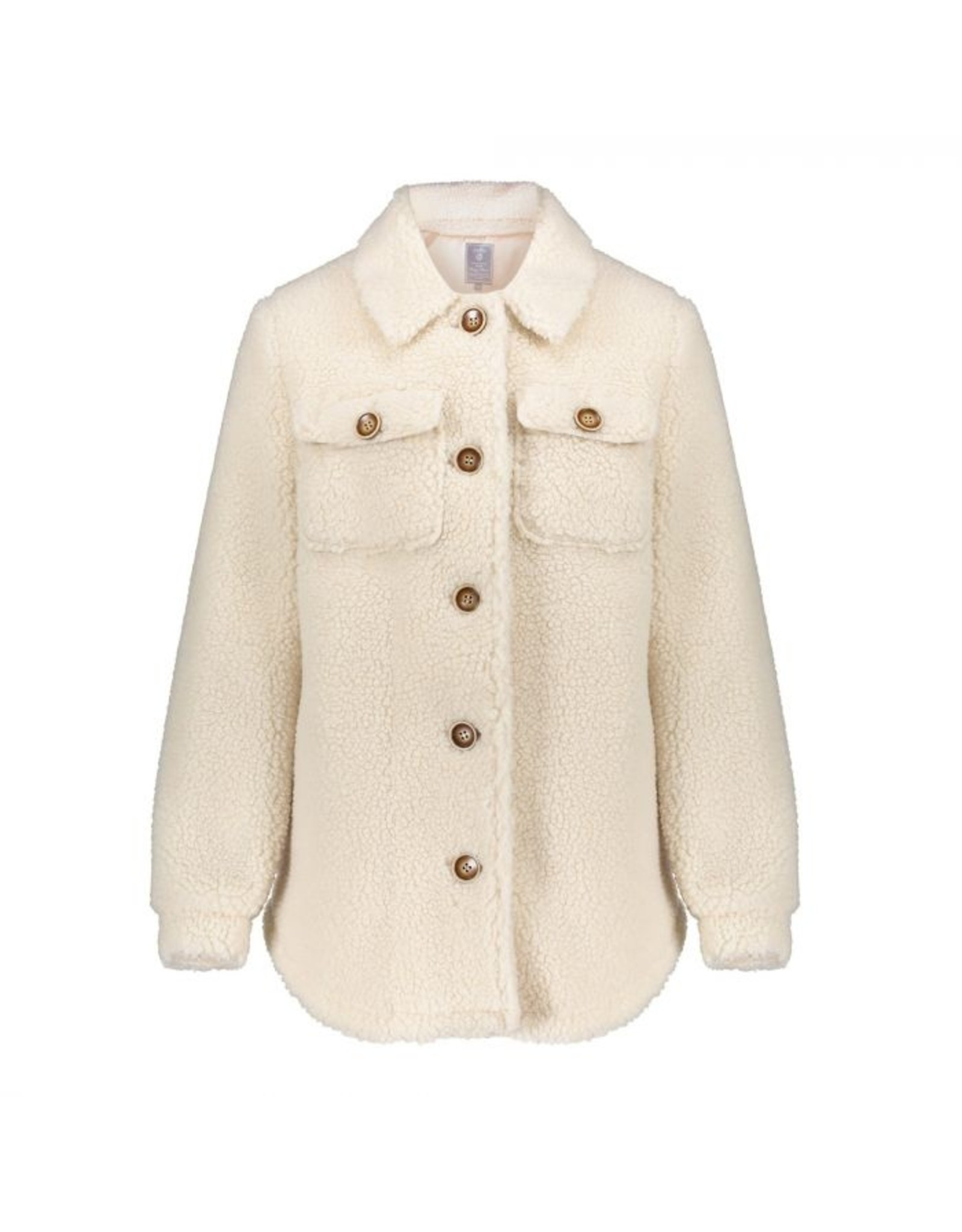 Geisha Teddy coat button closure