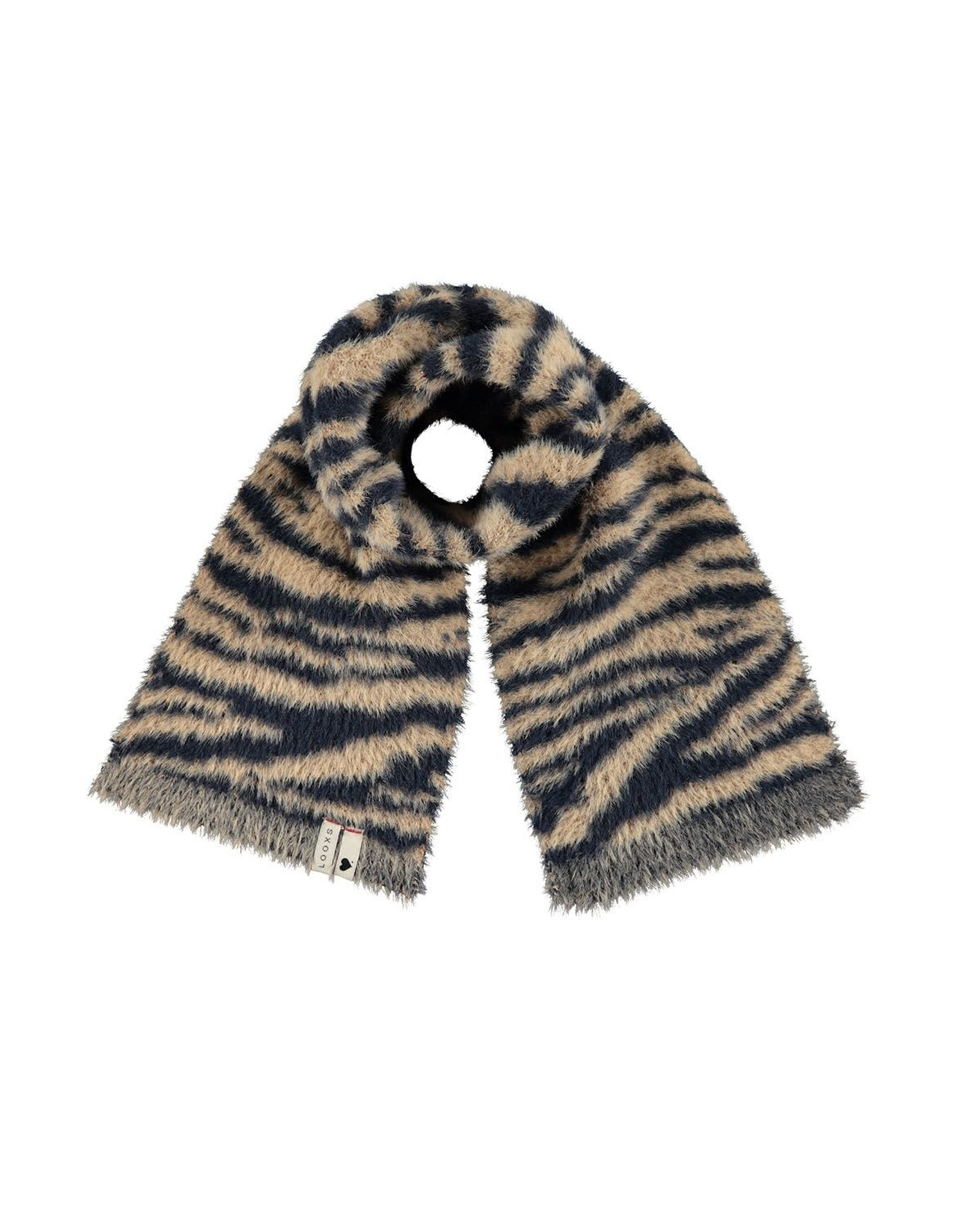 Looxs Little Little scarf hairy knit zebra