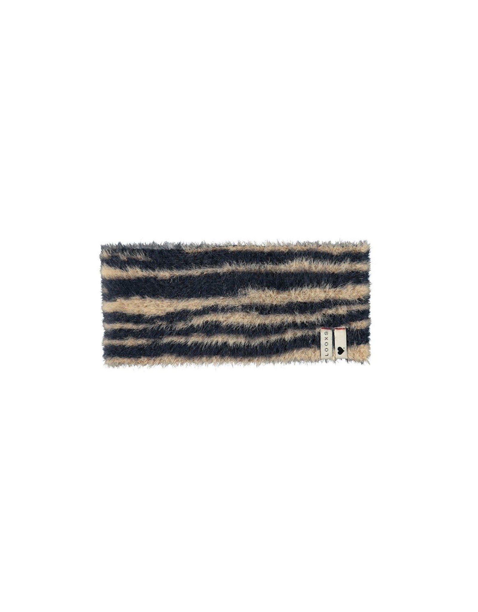 Looxs Little Little collar hairy knit zebra