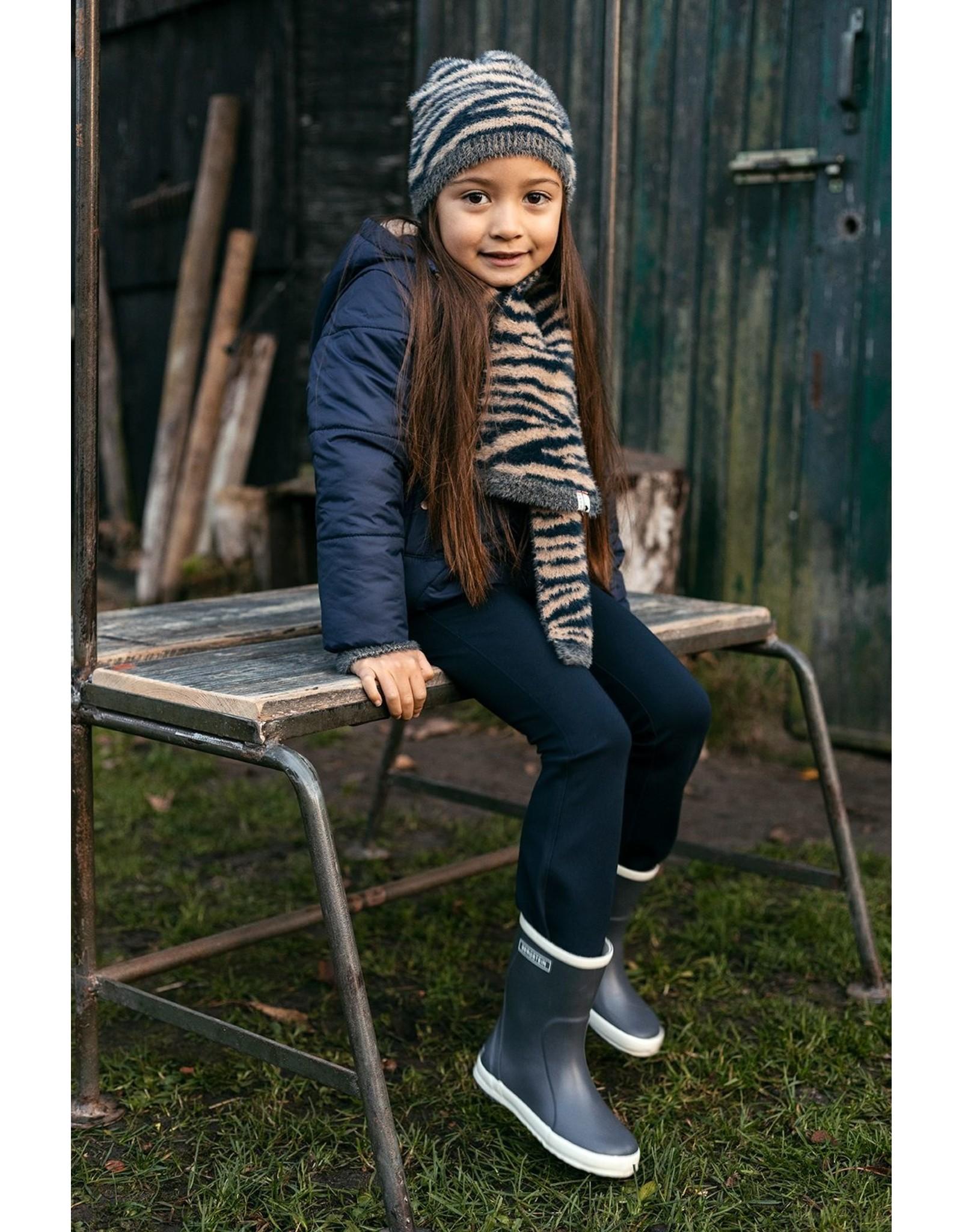 Looxs Little Little hat hairy knit zebra