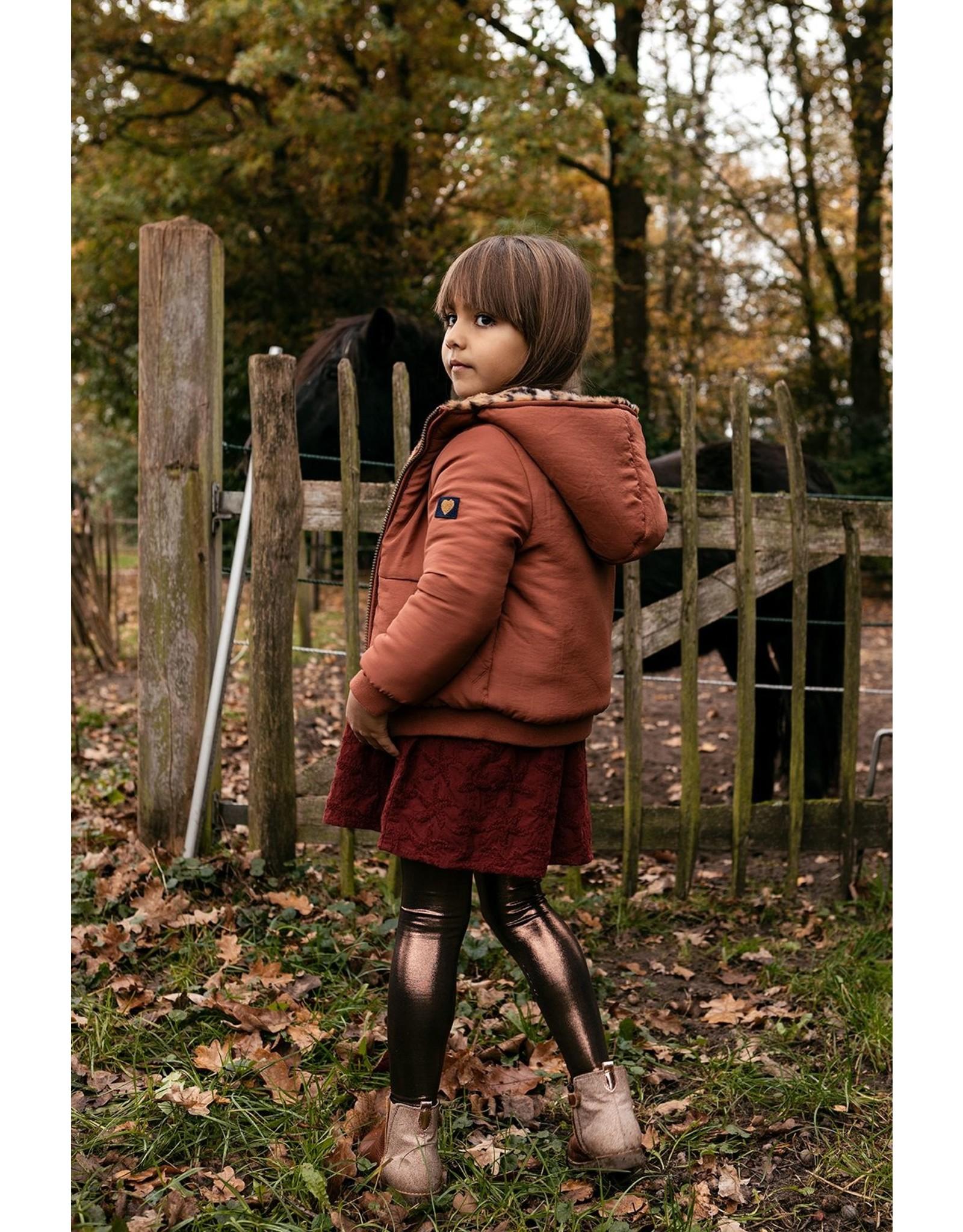 Looxs Little Little jacket animal fur reversible