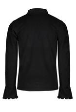 Nono Kyra rib l/sl turtle neck tshirt with volant at sleeve