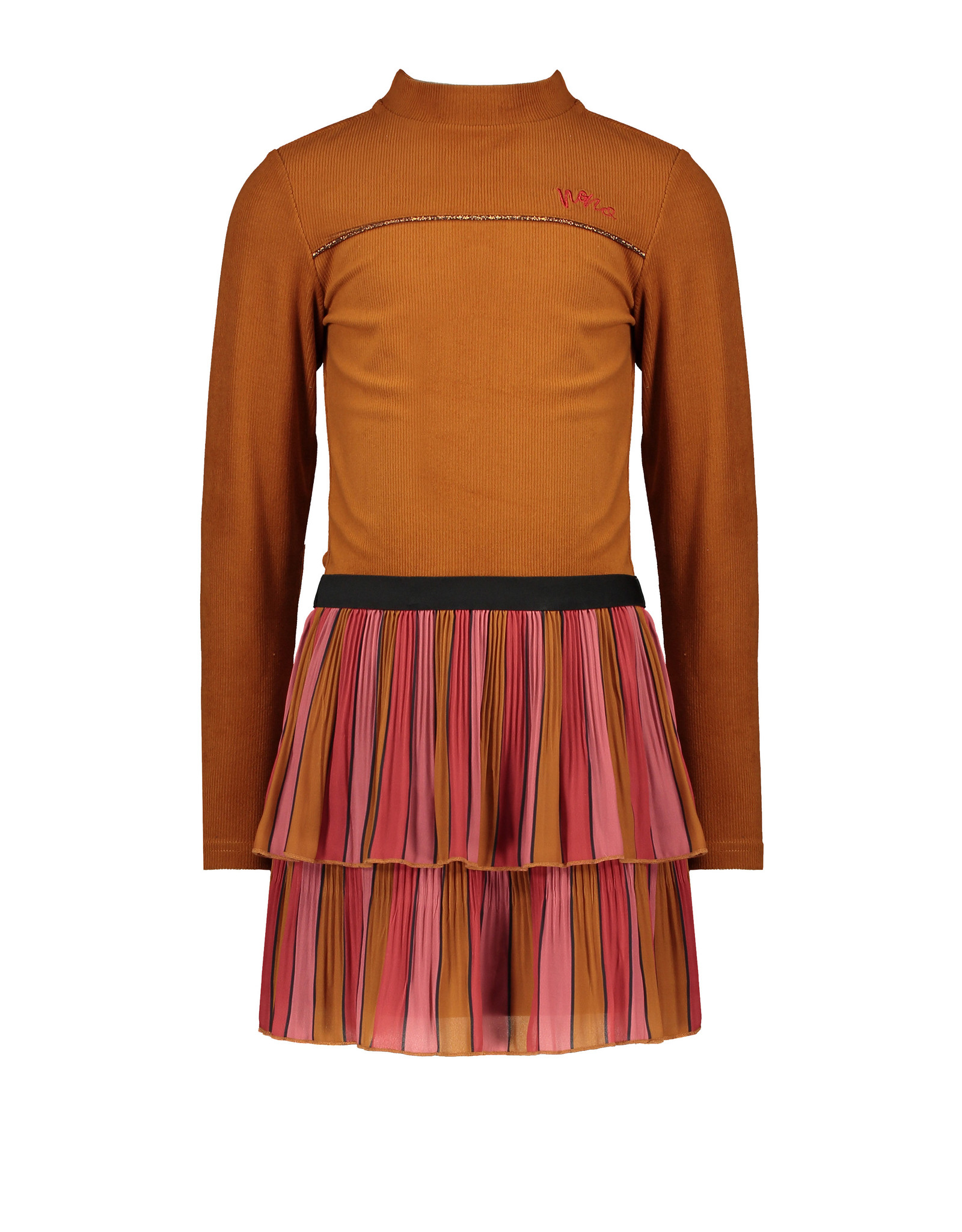 Nono Mika B combi dress with Velours rib top+ recycled PL skirt