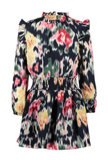 B.Nosy Girls woven dress with youth flower AOP