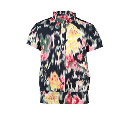B.Nosy Girls woven blouse with youth flower AOP