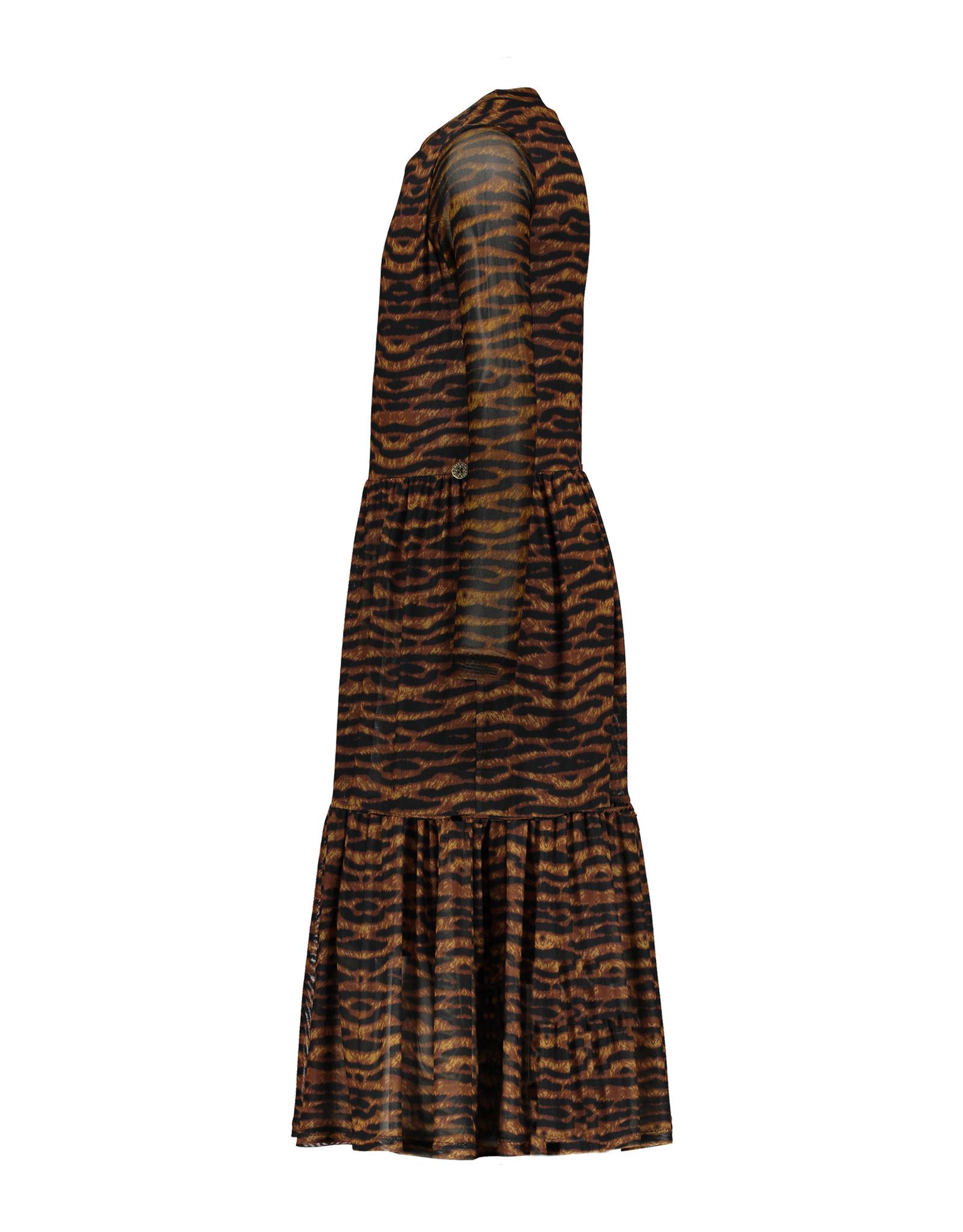 Like Flo Flo girls AO mesh long dress camel