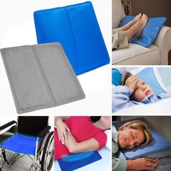 Relaxwonen Relaxwonen - Multifunctionele cooling gel kussen - Voor laptop - Yoga - Slapen - Autostoel - Hond