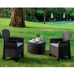 Relaxwonen Relaxwonen tuinset - 2 stoelen + tafel - Stevige kwaliteit