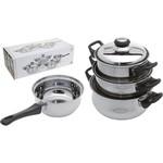 Excellent houseware Excellent houseware Pannenset - RVS - 4-delig - RVS