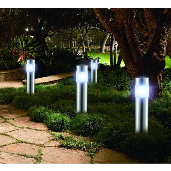 Relaxwonen Solar LED Tuinverlichting | Set van 4 | Padverlichting met Lichtsensor