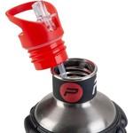 Pure2improve Drinkfles - zwart/ rood/ grijs