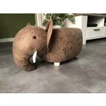 Relaxwonen Poef Nijlpaard - Voetenbank - Leuk voor de kinderen - Uniek design