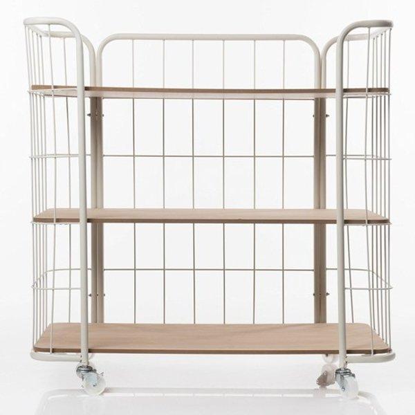 Relaxwonen Displayrek wit met hout - Bakkerskast - Trend 2019 - Stevige kwaliteit