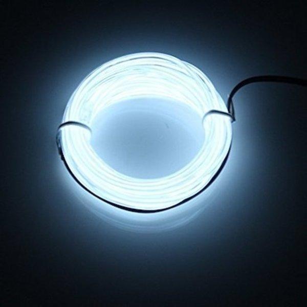Deluxa Deluxa Neonkabel - Wit - 3 Meter - Flexibel - Inclusief 3 Meter Metaaldraad