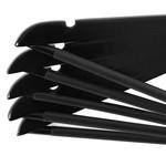 Relaxwonen Relaxwonen - kledinghanger 20 stuks - klerenhanger - kleerhanger - broekenstang - hout zwart