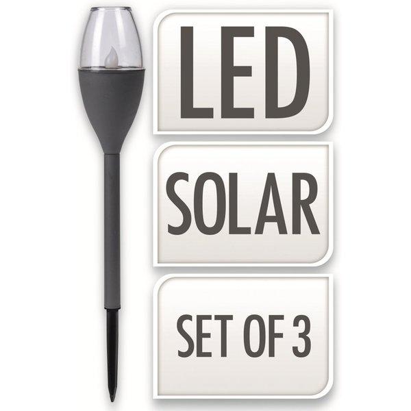 Relaxwonen Solarverlichting - Buitenverlichting - Priklamp - Tuinverlichting - 3 stuks