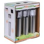 Relaxwonen Pro Garden Buitenspot Solar Led 33 X 4,5 Cm Zilver 6-delig
