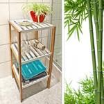Relaxwonen Badkamerrek bamboe met witte planken hoog