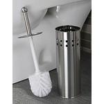 Relaxwonen Premium 3x RVS Toiletborstel met Houder Set + Gratis Kunststof Inzetbakje – 35x10cm – 3 Stuks