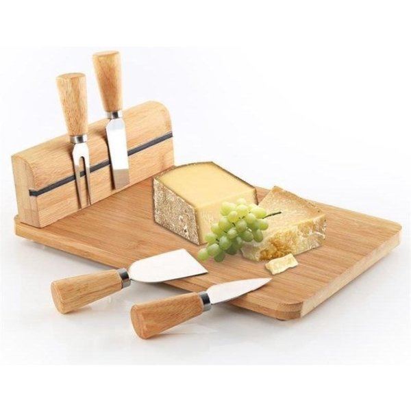 Relaxwonen bamboe kaasplank set (5 stuks)