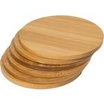 Relaxwonen Bamboe Onderzetters - set van 4 stuks