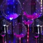 Relaxwonen Transparante ballon met LED-strip, Ballon met verlichting - Feest - Versiering - gekleurd