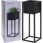 Relaxwonen Relaxwonen - Bloempot - Metaal - Bloemen - Plantenpot - Voor Binnen - Zwart - 70 cm
