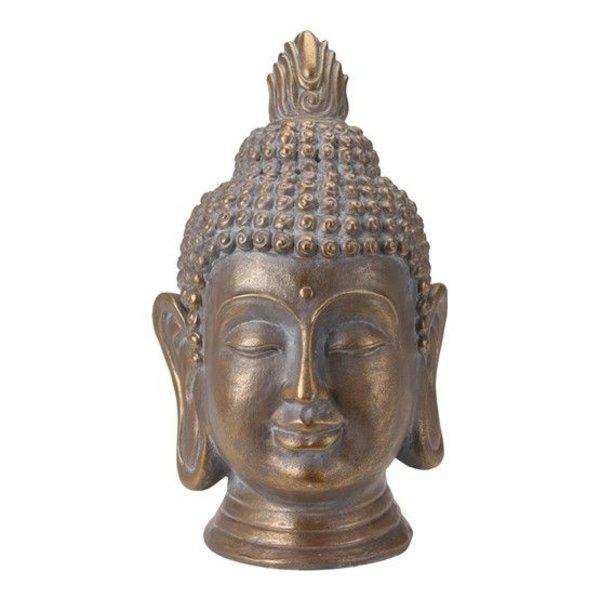 Relaxwonen Relaxwonen - Boeddha - Hoofd - Tuinbeeld - Bronskleurig - Beeld - Design