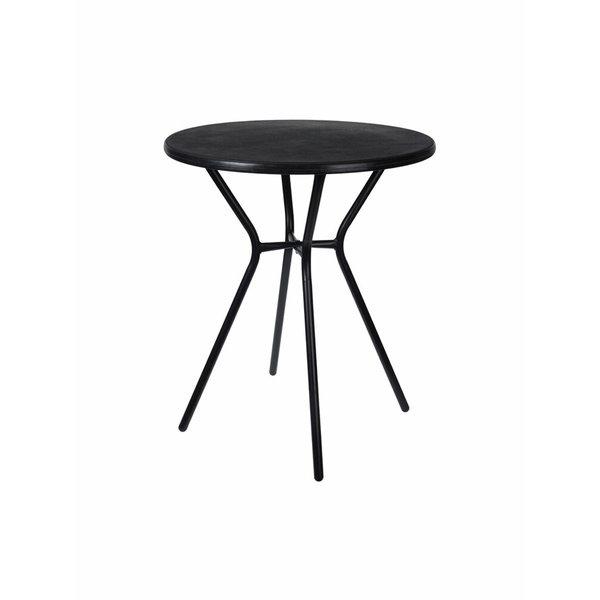 Relaxwonen - Bijzettafel - Tafel - Tuin tafel - Zwart - Rond