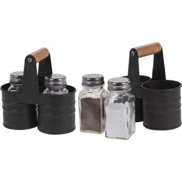Relaxwonen - Peper en zout strooier - Peper en zout stel - inclusief houder