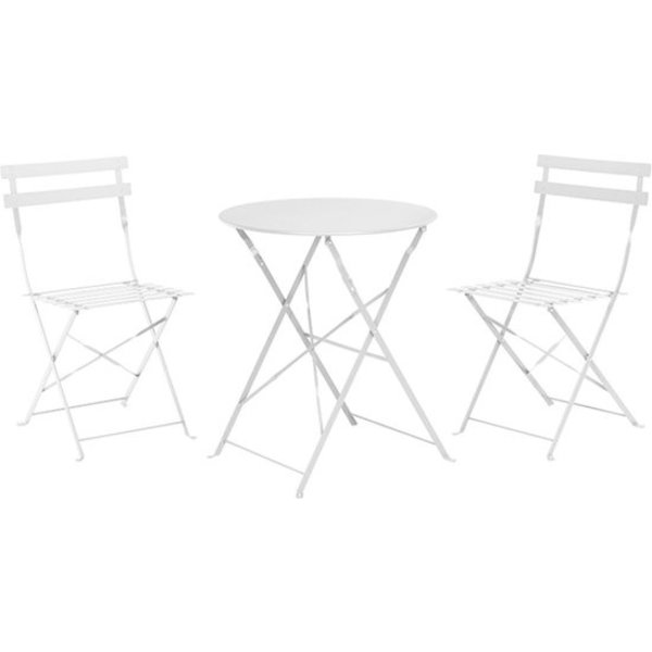Bistro set wit- bistrotafel- 2 stoelen 1 tafel - wit