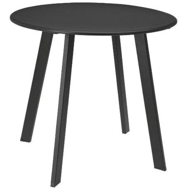 Relaxwonen - Bijzettafel - Donker Grijs - Tafel - Design - Robuust - 45x45x50 cm