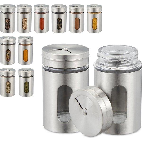 Relaxwonen - kruidenpotjes met strooideksel - 12 stuks - kruidenstrooier - potjes voor kruiden
