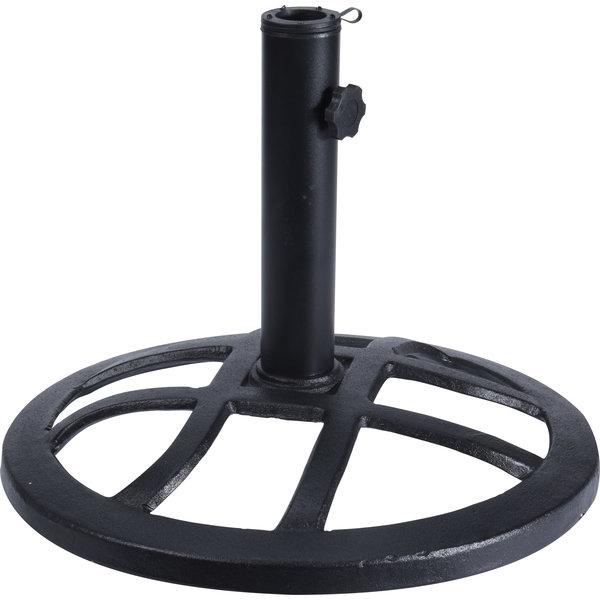 Relaxwonen - Parasolvoet - voet uit gietijzer - 43 cm - Zwart - 43 x 32,5 cm (ø x H)