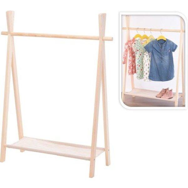 Relaxwonen - kledingrek voor kinderen - Uniek - stevige kwaliteit - inclusief schoenenplank