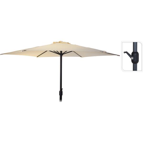 Relaxwonen - Parasol - Cremé - Schaduw - In hoogte verstelbaar - Handmatig opdraaien - 270 cm