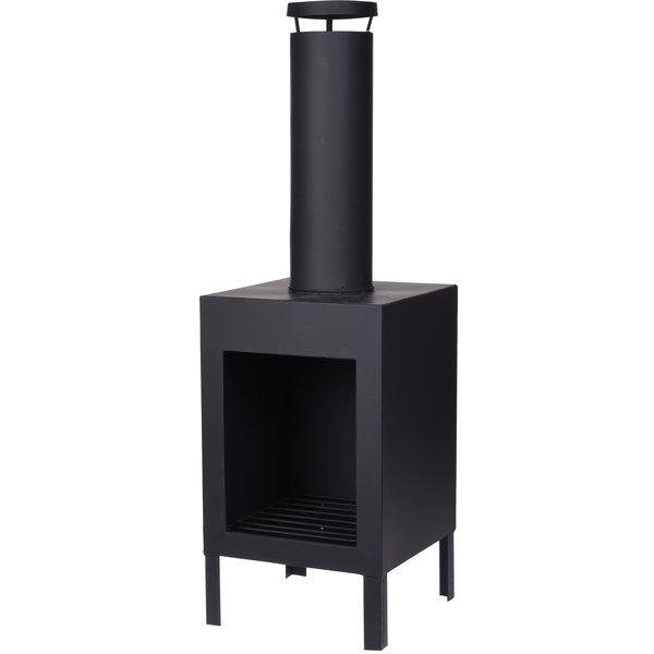 Relaxwonen - Sfeerhaard - Tuinhaard - Vuurkorf - Zwart - 30x30x100 cm