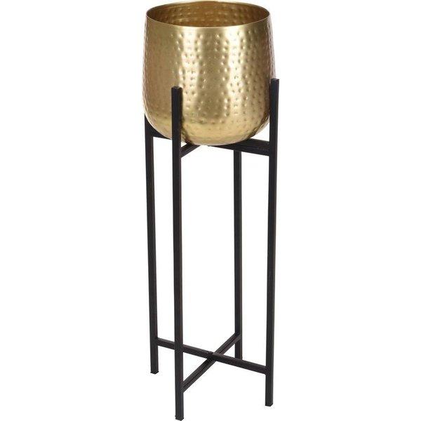 Bloempot op standaard goud - gouden bloempot - Metaal - 74cm