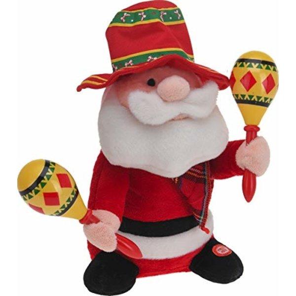 Relaxwonen - Bewegende Kerstman - Zingende Kerstman - Mariachi Kerstman - 30 cm