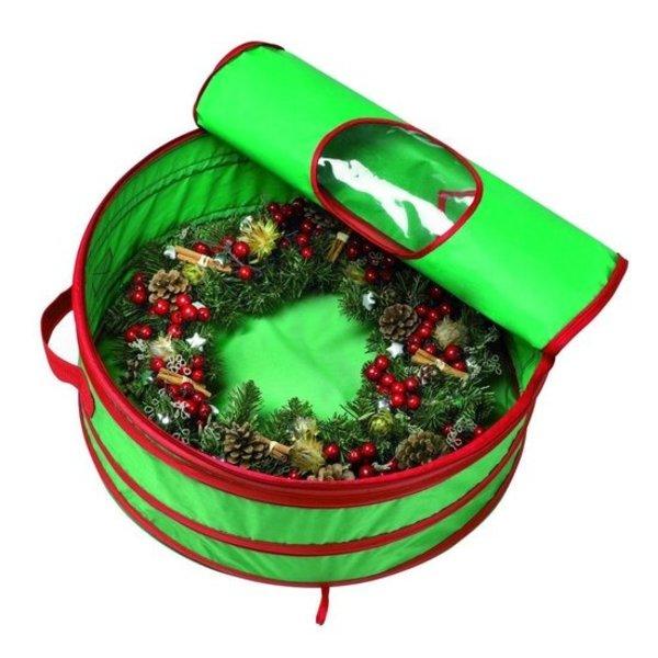 Relax Relaxwonen - Opbergtas - Kerstkrans Opbergtas - Kerstverlichting Opbergtas - kerst - Krans - Pop Up - 60x60x20 cm