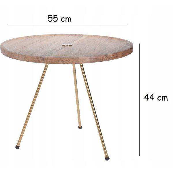 Relaxwonen Relaxwonen - Bijzettafel - Koffietafel - Salontafel - Tafel - Accessoiretafel - Acacia Hout - Eco Vriendelijke - 55x44 cm