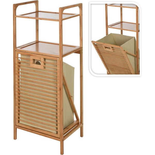 Relaxwonen - Badkamer rek - Bamboe - met wasmand - uniek en handig
