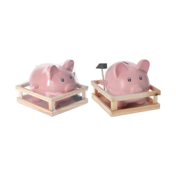Relax Relaxwonen - Spaarvarken met hamer - leuk cadeau - unieke spaarpot