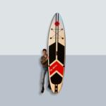 Pure2improve Sup 320cm versie Premium | Opblaasbare Paddle Board (SUP-board) | Stevige kwaliteit | 150KG | Zwart